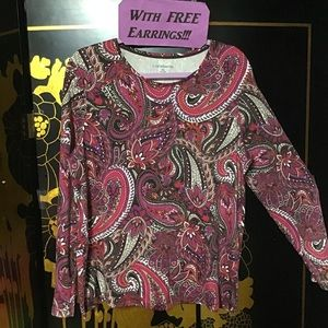 XL Naked Paisley Top & Glass Earrings